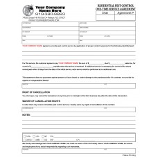 PEST-1003 Residential One-Time Service Agreement