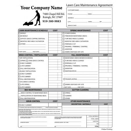 PEST-1008 Lawn Care Maintenance Agreement
