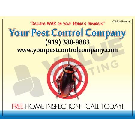 Pest Control Yard Sign #1