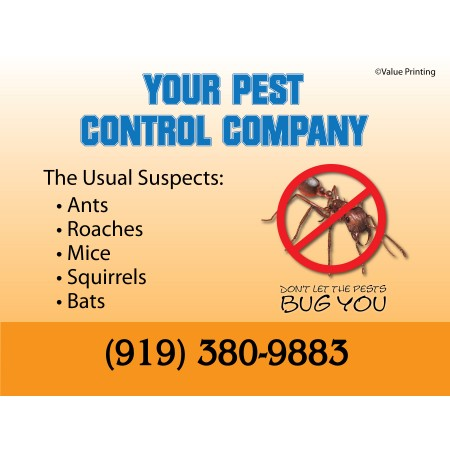 Pest Control Yard Sign #2