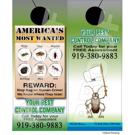 Pest Control Door Hanger #2